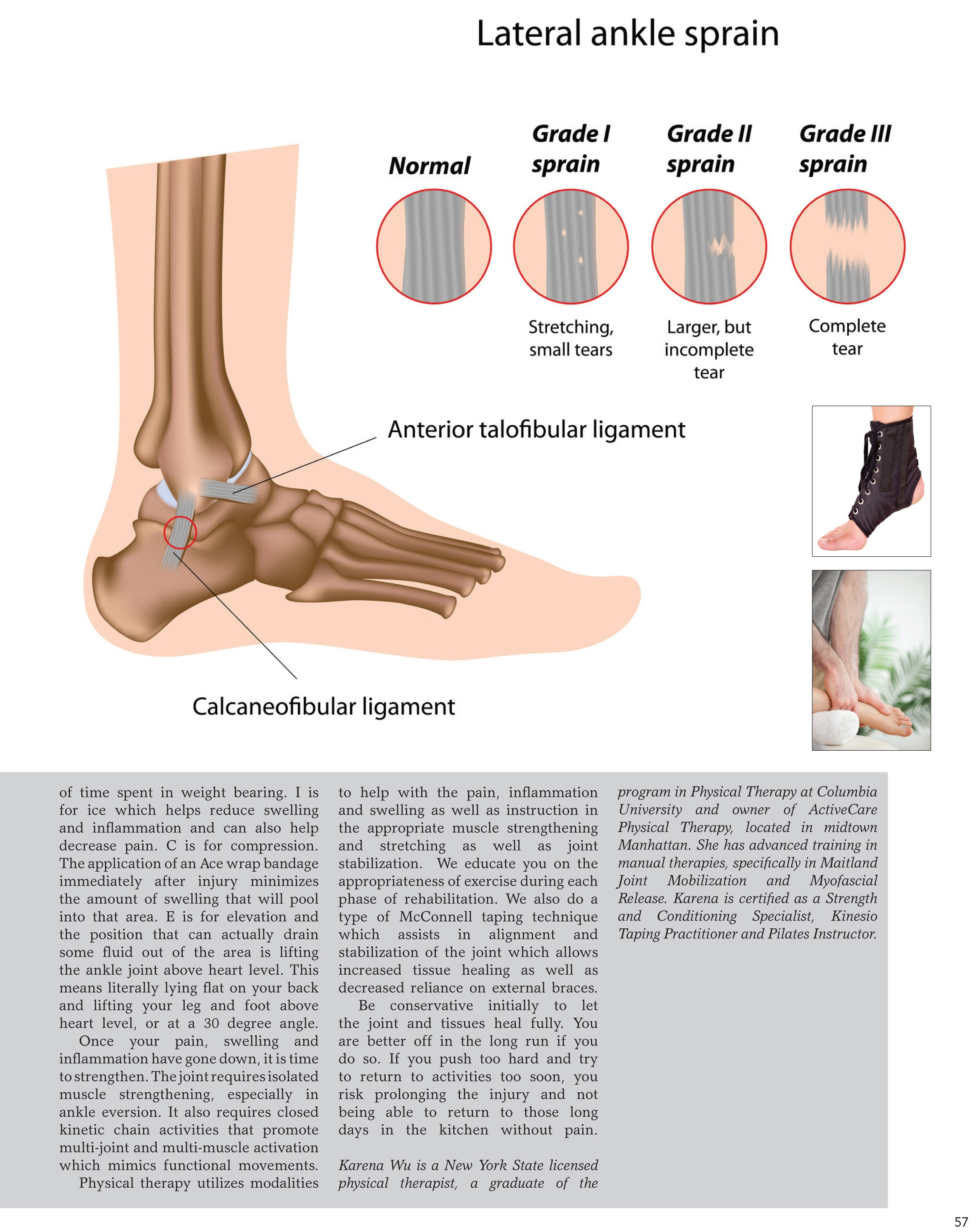 Ankle sprain physical therapy - Kithercize 12 12 Indd