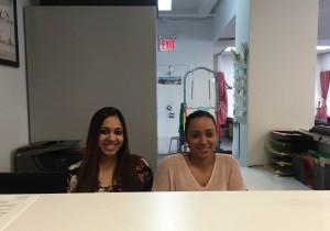 ActiveCare's Front Desk Administrators Jasmine Abraham (L) and Annie Santos (R)