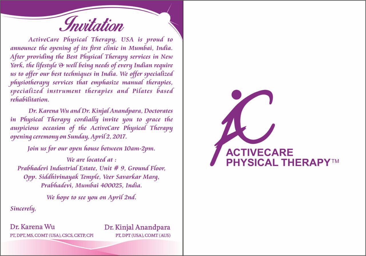 Dr  Karena Wu and ActiveCare Physical Therapy opens its